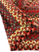 Capel Rugs Portland Wool Blend Rectangle Braided Area Rug Country Red 500