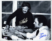 Stan Lee And John Romita Sr Dual Signed 11x14 Photo Spider-man Psa/dna Autographed