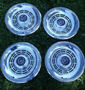 Set Of 4 Four 77-79 Ford Ltd Hubcaps Cougar Ranchero Driver Condition Covers