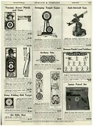 1940 Paper Ad Lead Canadian Soldiers Toy Anti-aircraft Gun Mounted Police Forts