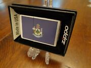 Maine State Flag Series Zippo Lighter Mint In Box