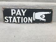 Porcelain Telephone Pay Station Sign