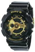 Casio Baby-g Ba1101a Black And Gold Wrist Watch For Women