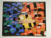 Original Signed Painting Its Abstractandnbsp By Artist Dr. Pvh