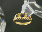 Vintage To Antique 18ct Gold Sapphire And Diamond Ring