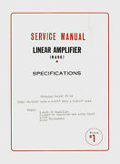 Copy 1964 Eci Courier Cb Radio Base Linear Amplifier Service Manual And Schematic
