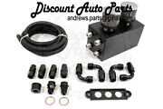 Plm Power Driven Universal Oil Catch Can Kit Breather Tank In Black