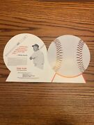 Rare 1973 Mickey Mantle And Baltimore Orioles Ad For 6 Bats W/name Inscripted