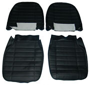 New Pair Of Seat Covers Upholstery Mgb 1973-80 Made In Uk Black
