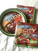 Disney Cars Lightning Mcqueen Party Plates And Napkins
