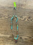 Gypsy Soule Turquoise Bead And Copper Heart Necklace
