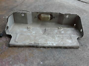 1973-77 El Camino License Plate Rear Bumper Bracket/holder With Light And Plug
