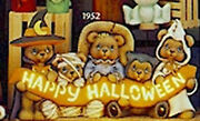 Ceramic Bisque Ready To Paint Happy Halloween Bears Electric Included
