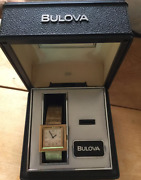 Vintage 1960's Bulova White Dial Rare Ladies Watch With Box Shipped From Japan