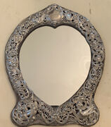 Dominick And Haff Sterling Silver Heart Shaped Mirror