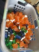 Mixed Lot Of Plastic New Medicine Bottles-mix Of Sizes And Colors-one Price