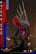 1/4 Hot Toys Qs015 Spider-man Homecoming Peter Parker Action Figure Collectible
