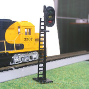 5 Pcs Oo Or Ho Scale Leds Made Railway Signals 3 Lights Block Signals G/y/r N