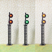 1 X O Scale Searchlight 2 Heads Block Signal Model Train 3 Color Smd Leds Ss48b