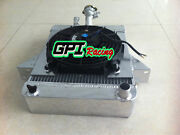 Aluminum Radiator And Fan And Support For Triumph Gt6 2.0l 1966-1973 1967 1968 62mm