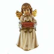 Wooden Angel Statue With Wedding Rings