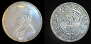 South Africa 1892 2 Shilling Rare Key Date Choice Luster Unc Sharp Detail