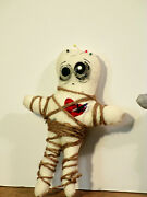 Artdoll Stabbed In The Heart In White Voodoo Doll Weird Sad Doll