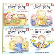 Babyand039s First Bible Look Book Bundle Of 4 Board Books W/ Songs Download New