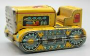Vintage Tin Linemar Litho Toys Construction Bulldozer Excavating Made In Japan