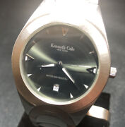Kenneth Cole Ny Kc3215 Stainless Band Wr 50m Green Face Super Clean Runs