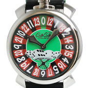 Free Shipping Pre-owned Gaga Milano Manure 48mm Las Vegas Limited 5010.lv.01.s