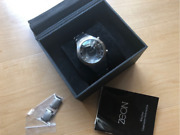 rare Zeon Solsuno Zr21868 Led Black Dial Menand039s Watch Shipped From Japan