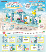 Pokemon World Water Type All 6 Pecies From Japan New Re-ment Pocket Monster