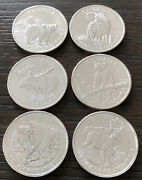 2011,2012 And 2013 Canada Wildlife Series 1 Oz .9999 Fine Silver Coins Set Of 6