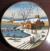 Vintage Veneto Flair Christmas Card Series 1977 Plate Tiziano Italy Number 1754