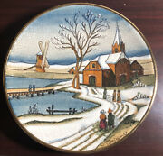 Vintage Veneto Flair Christmas Card Plate Tiziano Italy Number 1749 New Sealed