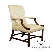 Wallace Nutting Bench Made Antique Chippendale Style Armchair