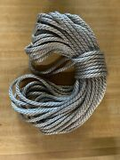 1/4andrdquo X 83 Ft. Solid Braid Mfp Rope Hank. Silver. Made In Usa