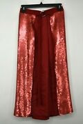 Tibi Womens Sequin Panel Skirt True Wrap O Ring Belt Partially Lined Os 695