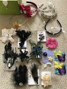 Icing And Claire's Lot Of 20 Jewel Feather Rhinestone Hair Clips Pins Head Bands