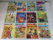 12 Frame Tray Puzzle Lot Walt Disney Golden Puzzles Donald Duck Winnie The Pooh+