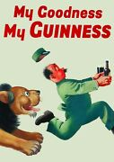 Art Print Poster / Canvas My Goodness My Guinness Retro Vintage Alcohol Posters