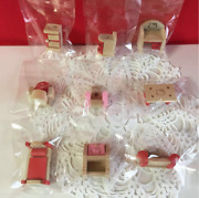 Rare Sanrio Hello Kitty 1999 Wooden Mini Furniture Lot Of 9 Shipped From Japan