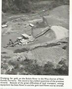 Dredging For Gold Mining New Guinea Bulolo River Wau District 1947 Old Clipping