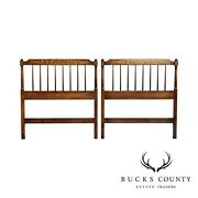 Hitchcock Solid Maple Vintage Pair Twin Stenciled Headboards