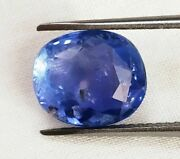 Igitl Certified Ceylon Sapphire 4.97 Cts Natural Untreated Blue Oval Cut Q42