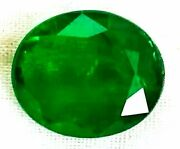 Gtl Certified Igi Zambia Emerald 3.67cts Natural Untreated Green Oval Gemsto S93