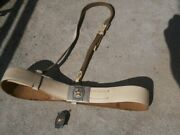 Jna Yugoslav Peoples Army Military Police Officer Belt With Chest Badge