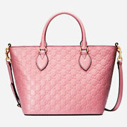 New Signature Candy Pink Top Handle Tote Bag Medium Size
