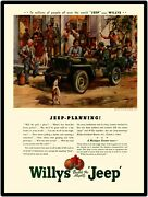 1946 Willys Jeep New Metal Sign Jeep Planning Used On A Michigan Farm Post War